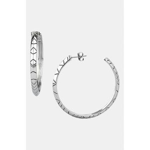 House of Harlow | Silver Plated Engraved Hoops